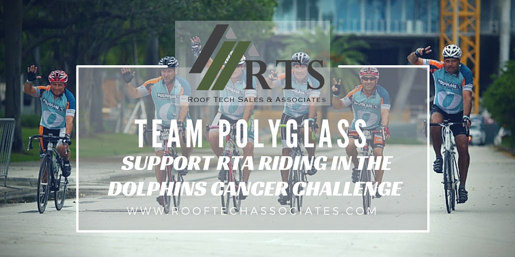 Team Polyglass Dolphins Cancer Challenge   Roof Tech Sales and Associates